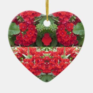 Colina NJ NVN213 NavinJOSHI de la cereza del ramo Adorno De Cerámica En Forma De Corazón