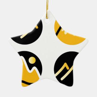 Colinas de lujo del oro en negro adorno de cerámica