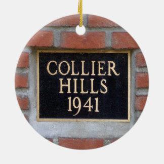 Colinas del minero, Atlanta, Georgia, ornamento Adorno Navideño Redondo De Cerámica