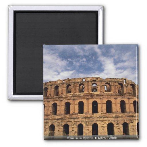 Coliseo en Thysdrus, EL Djem, Túnez Imán