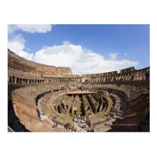Coliseo romano, opinión de ojo de pescados postal