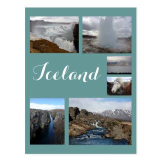 Collage 2 de Islandia Postal