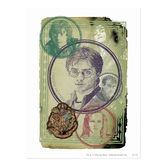 Collage 9 de Harry Potter Postal