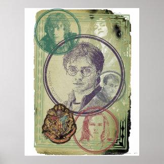 Collage 9 de Harry Potter Póster