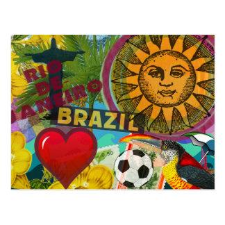 collage América del viaje de Río de Janeiro el Postal