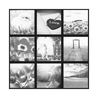 Collage blanco y negro de la foto lienzo