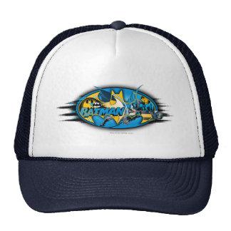 Collage clásico del logotipo de Batman Gorros Bordados