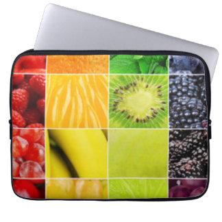 Collage colorido multi de la fruta funda para ordenador