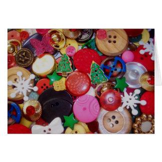 Collage con los botones del árbol de navidad tarjeta