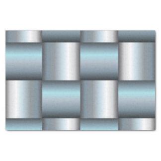 Collage cuadrado metálico de la plata y del trullo papel de seda