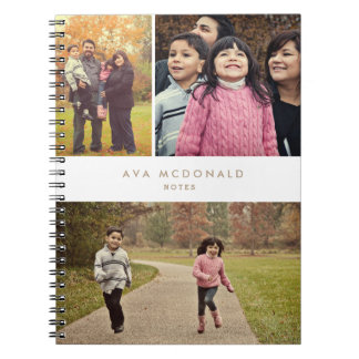 Collage de 3 fotos libros de apuntes