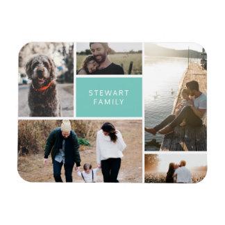 Collage de 5 fotos imán flexible