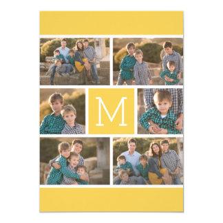 Collage de 6 fotos con la fiesta de cumpleaños invitación 12,7 x 17,8 cm
