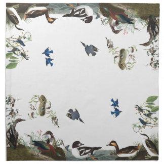 Collage de Audubon de las servilletas del paño de