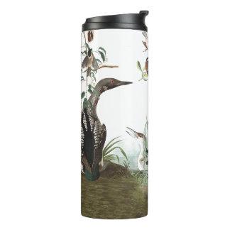 Collage de Audubon del vaso animal de la fauna de