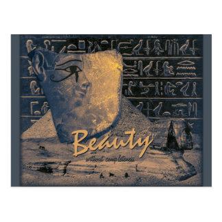 Collage de Egipto antiguo con la cara hermosa Postal