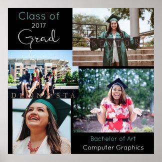 Collage de encargo graduado 2 de la foto póster