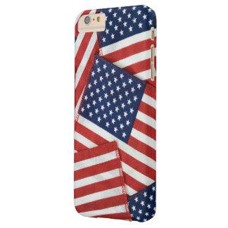Collage de la bandera americana funda barely there iPhone 6 plus