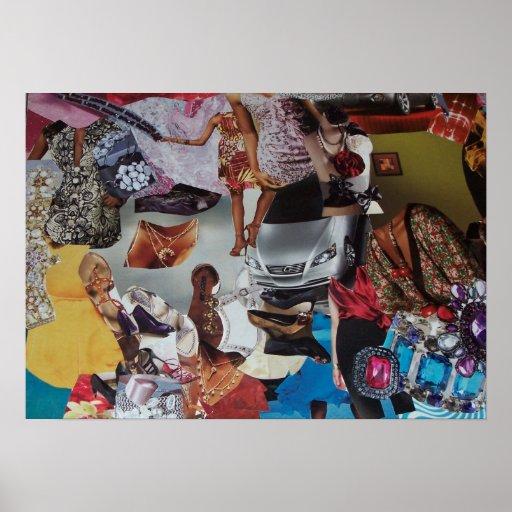 Collage de la casa de moda posters