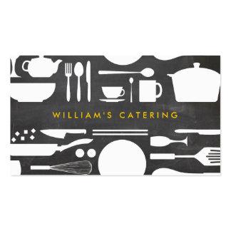 Collage de la cocina de Groupon en fondo de la Tarjetas De Visita