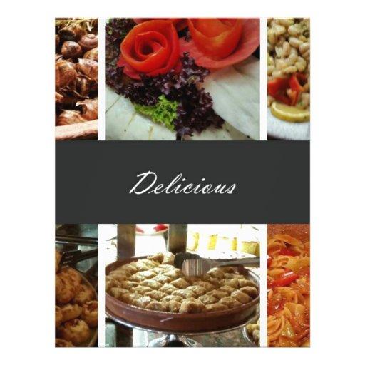 Collage de la comida tarjetón