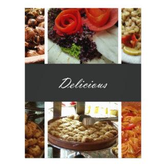 Collage de la comida folleto 21,6 x 28 cm