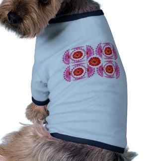 Collage de la flor del ZINNIA - colores color de r Camisa De Perrito