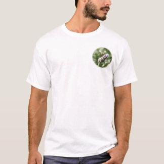 Collage de la foto de la abeja en la foto trasera camiseta