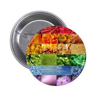 Collage de la foto del arco iris chapa redonda 5 cm