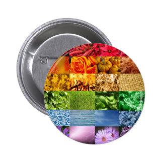 Collage de la foto del arco iris chapa redonda de 5 cm