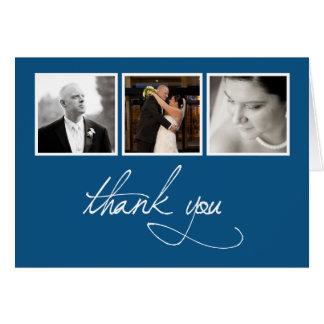 Collage de la foto del boda - gracias tarjeta pequeña