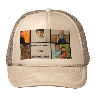 Collage de la foto gorras
