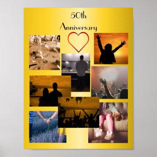 Collage de la foto para el 50.o aniversario póster