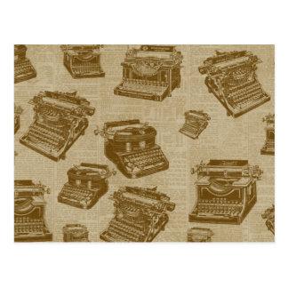 Collage de la máquina de escribir del vintage postal
