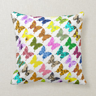 Collage de la mariposa cojín decorativo