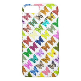 Collage de la mariposa funda iPhone 7