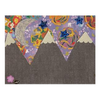 Collage de la montaña postal