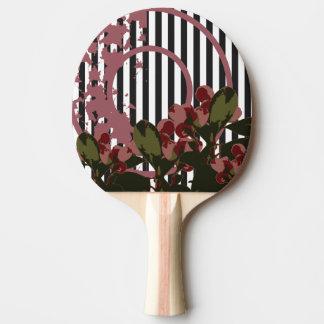 Collage de la naturaleza de la CEREZA del VINTAGE Pala De Ping Pong