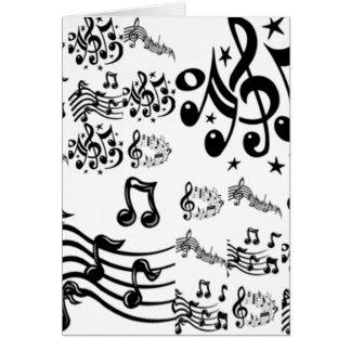 Collage de la nota musical tarjeton
