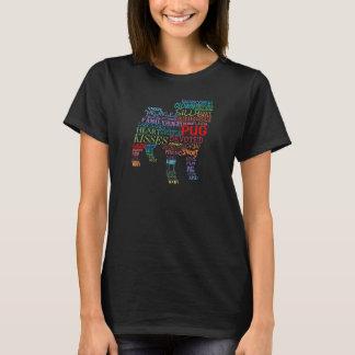 Collage de la palabra del barro amasado - en color camiseta