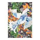 Collage de la paloma impresion de lienzo