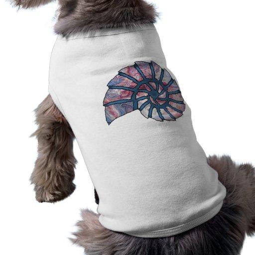 Collage de la plantilla de Shell Digital del mar - Camiseta De Perrito
