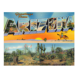 Collage de la postal de Arizona del vintage