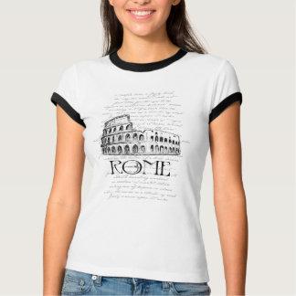 """Collage de la tipografía de Roma """"Colosseum"""" Camiseta"""