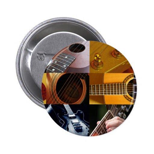 Collage de las fotos de la guitarra pins