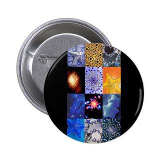 Collage de las fotos de las estrellas del azul y d pin