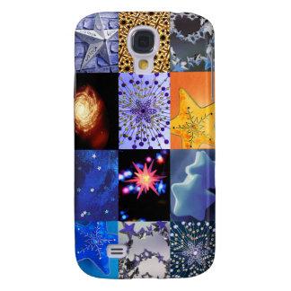 Collage de las fotos de las estrellas del azul y d funda para samsung galaxy s4