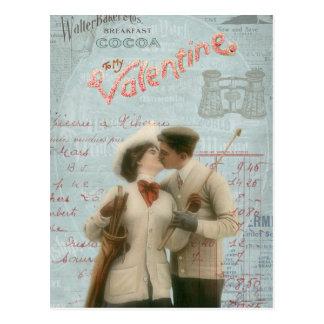 Collage de los pares del el día de San Valentín Postal
