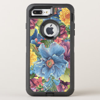 Collage de moda colorido de las flores de las funda OtterBox defender para iPhone 8 plus/7 plus