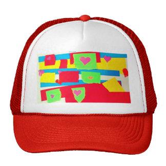 Collage de papel rasgado gorras